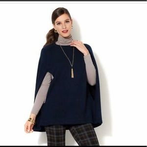 Iman pullover pancho sweater